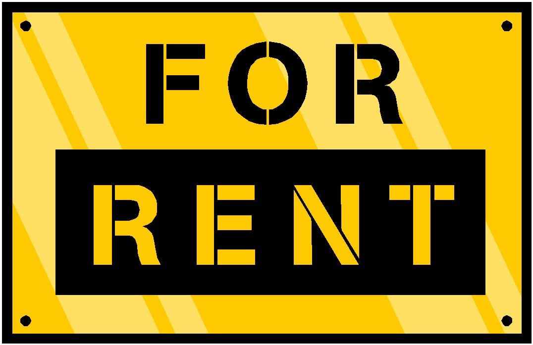 for rent sign big